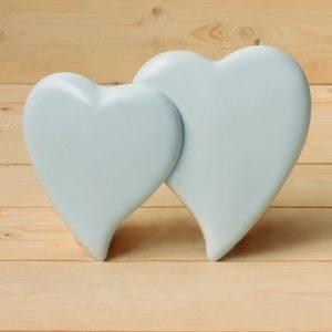 Fotocerámica 2 corazones juntos - Arte funerario - Druyen Fotocerámica y Deco