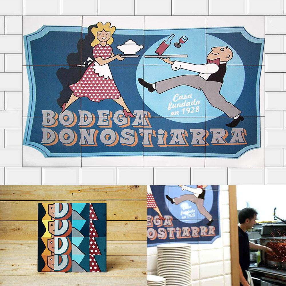 Diseño de interiores - Bodega Donostiarra - Druyen Fotocerámica y Deco