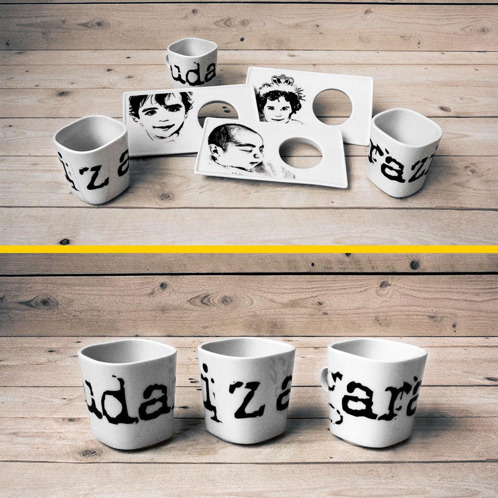 Hostelería: tazas, platos, vajilla de fotocerámica personalizada - Druyen Fotocerámica y Deco