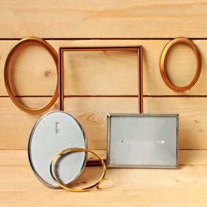 Marcos varias dimensiones en bronce, acero inoxidable, dorados - Arte funerario - Druyen Fotocerámica y Deco