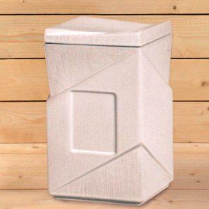 Arte para la memoria: urna rectangular de porcelana - Druyen Fotocerámica y Deco