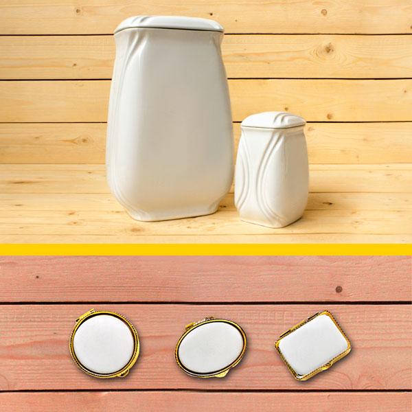 Arte para la memoria: urnas y relicarios de porcelana - Druyen Fotocerámica y Deco