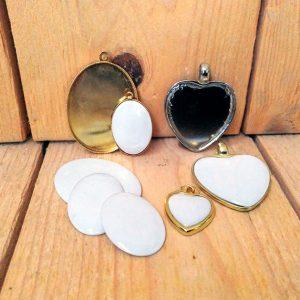 Arte para la memoria: colgantes personalizados en porcelana, bronce y baño de oro - Druyen Fotocerámica y Deco