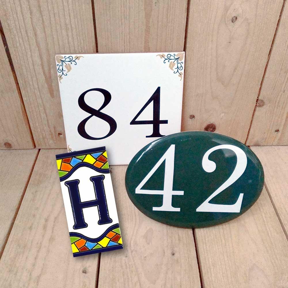 Letras y números de fotocerámica para decoración - Druyen Fotocerámica y Deco